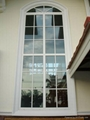 Arched PVC Window with grills design 4