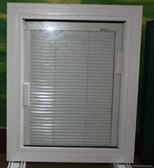 double glazing pvc window with shutter built in glass