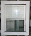 double glazing pvc window with shutter built in glass 2