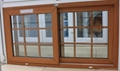 wooden color laminated pvc sliding