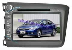 HONDA CIVIC 2012 car dvd player gps navigation bluetooth dvbt isdb-t tv radio