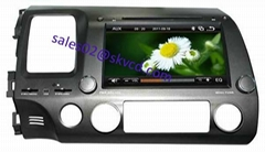 HONDA CIVIC car dvd player gps navigation bluetooth dvbt isdb-t tv radio stereo