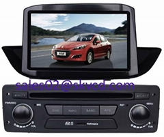 Peugeot 308 Car DVD Player with GPS Navigation