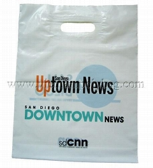 Patch handle plastic bag