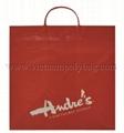 Rigid handle plastic bag