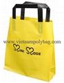 Tri-fold handle plastic bag