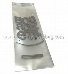 Blockhead plastic bag