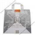 Soft loop handle plastic bag in customized