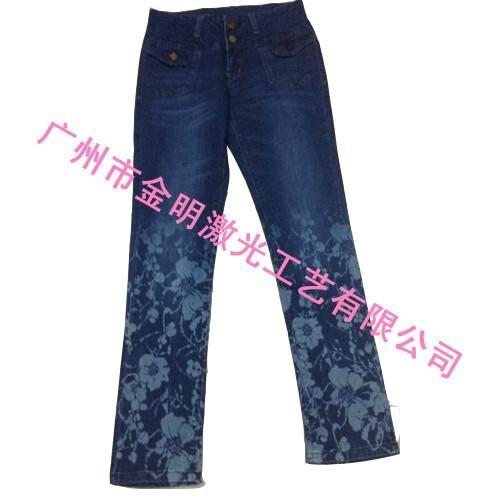 牛仔褲印花 1