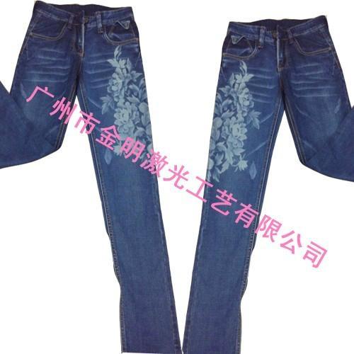 牛仔褲印花 2