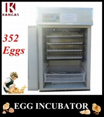 Holding 352 Eggs Digital Poultry Egg Incubator CE Marked