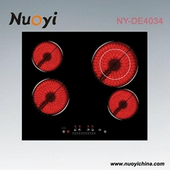 CE/CB approval 4 burner LED display touch control built in electric cooker