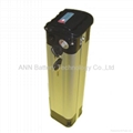 electric bicycle battery 24v 10ah sliver fish type EB2410XY LiFePO4 battery