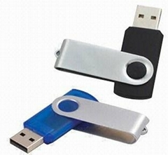 Durable Promotional Swivel USB Flash Drives, 100pcs OEM and ODM Orders Welcomed
