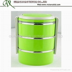 stainless steel 3 layer food warmer