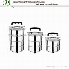 2 layer stainless steel food container