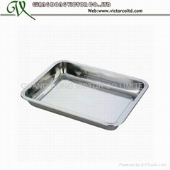 Stainless steel rectangle tray