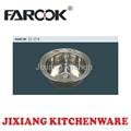 round stainless steel kitchen sink