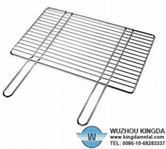 Stainless steel barbecue grill rack