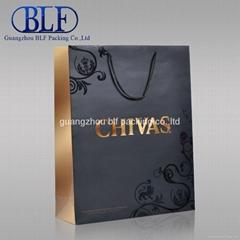 hot sale custom printed Luxury paper bag for wine(BLF-PB001)