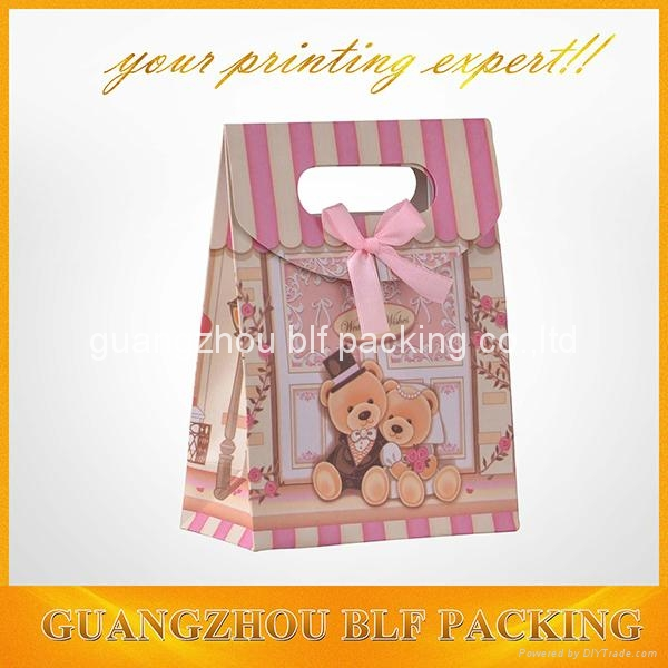 custom printed small paper gift boxes with ribbon+velcro closure  2