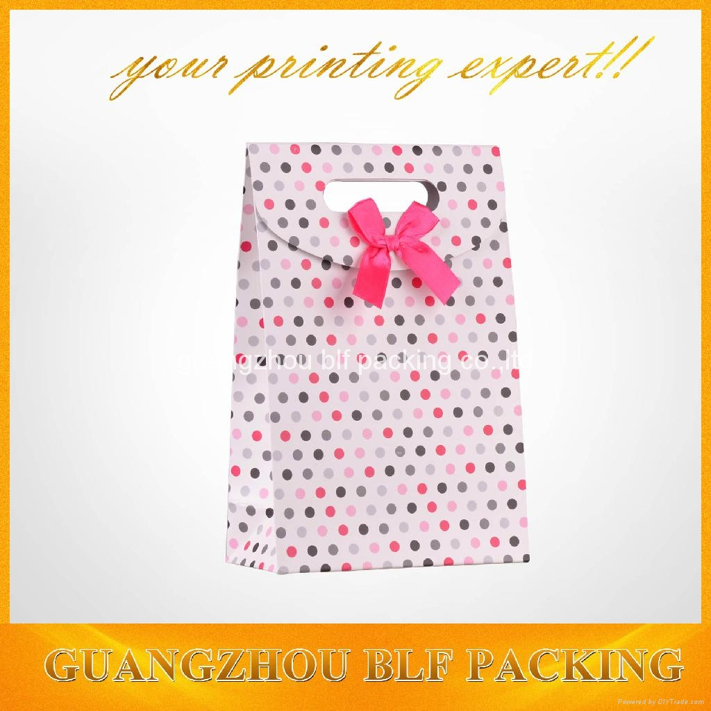 custom printed small paper gift boxes with ribbon+velcro closure  4