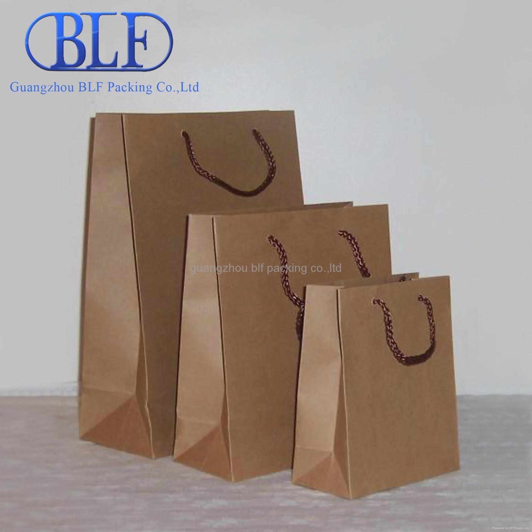 custom printed brown kraft paper bag (BLF-PB003) 3