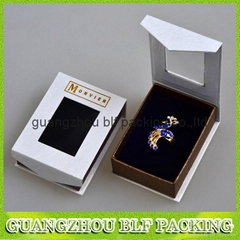 custom magnetic closure  cardboard paper jewelry gift box
