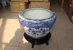 北京陶瓷大鱼缸风水大缸