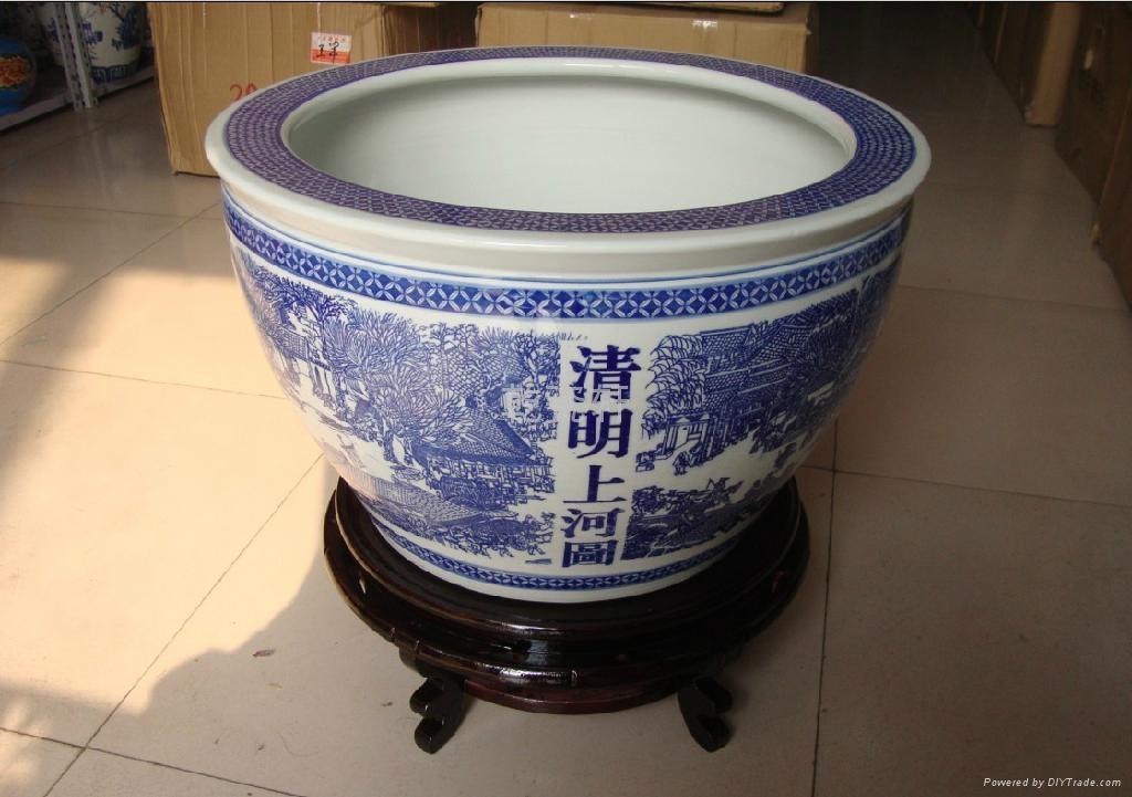 北京陶瓷大鱼缸风水大缸 2