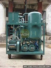 waste oil recycling for purifying turbine lubricating oil