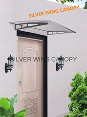 Polycarbonate Aluminum Door Awning