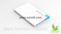Credit Card shaped Ultra Thin 2.1A USB Fast Charging Portable Power Bank