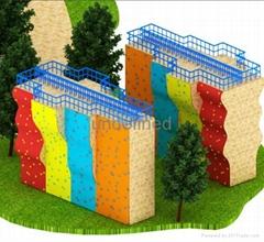 供應室內戶外儿童拓展攀岩牆訓練設備