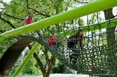 戶外弧形爬網儿童攀爬異形網廠家