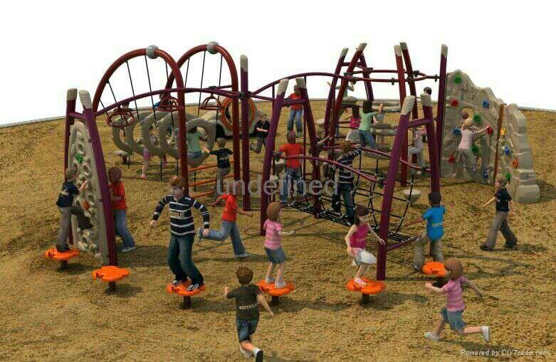 儿童攀爬異形網設備 4