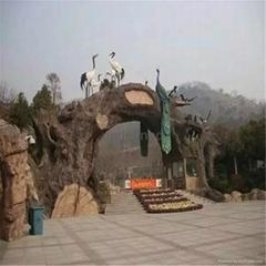 旅游景区正门形象门头景观设计施工制作