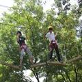 森林丛林拓展空中攀登训练设备