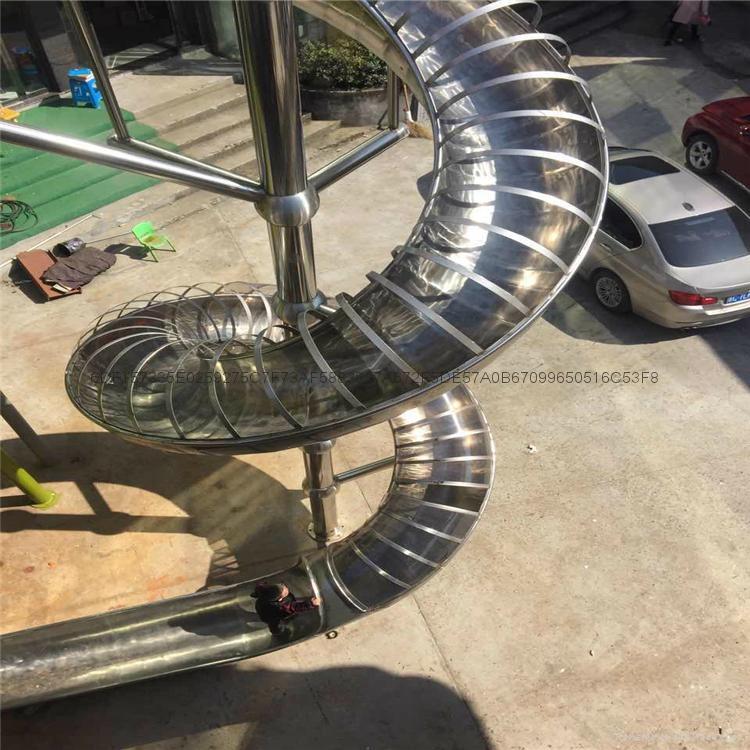 定制不锈钢游乐滑梯 2