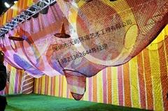彩虹网儿童攀爬网