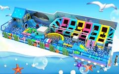 儿童淘氣堡遊樂大蹦床海洋球設備
