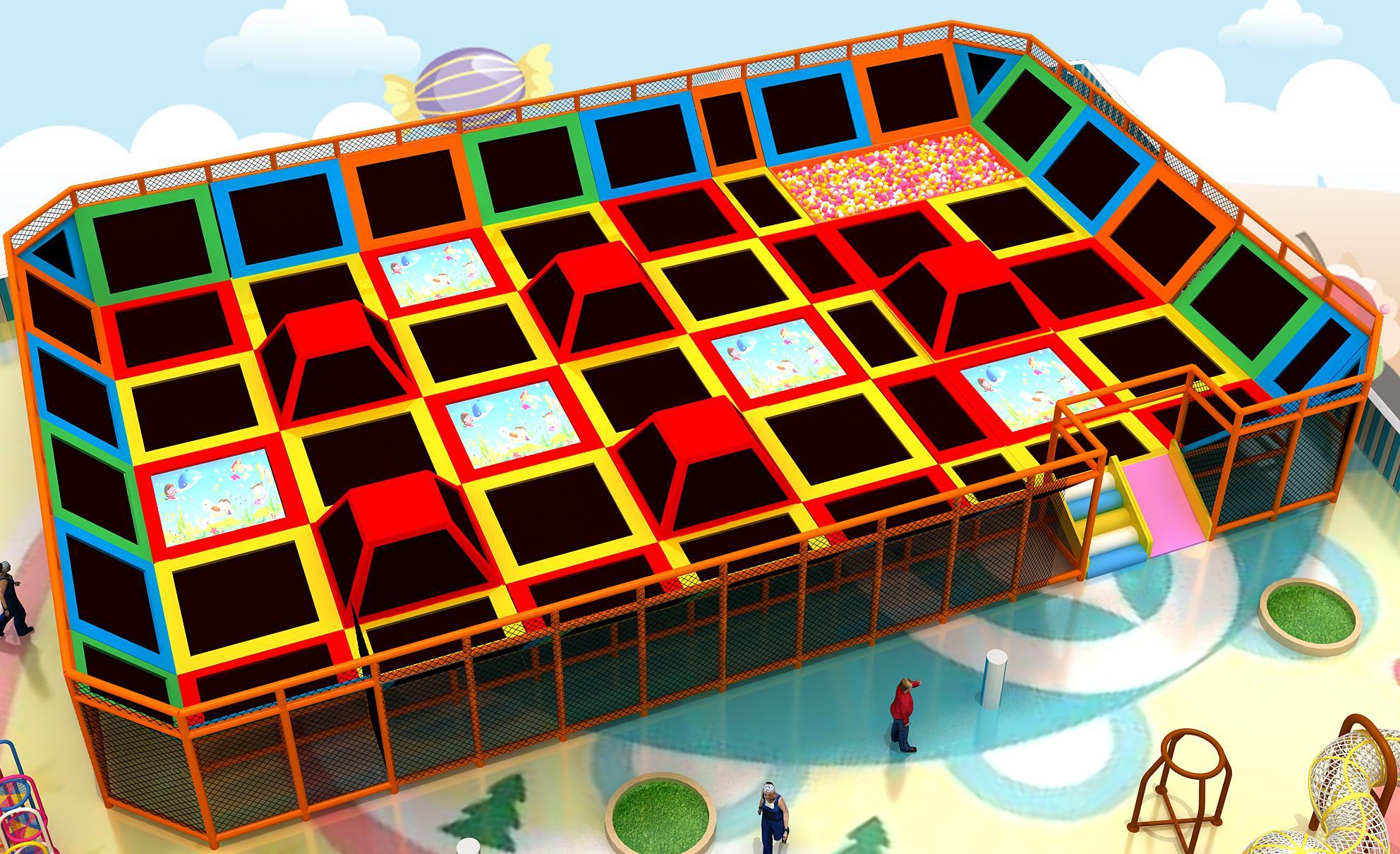 儿童蹦床淘氣堡設備 2