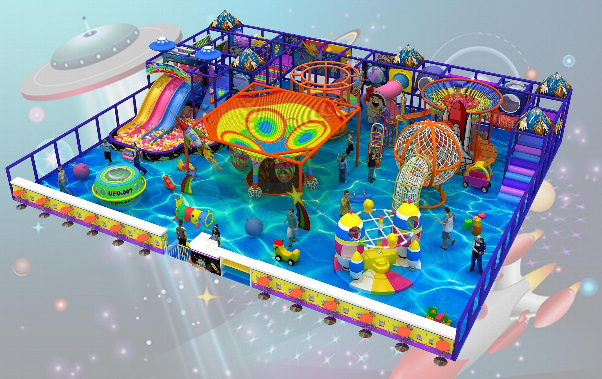 室內儿童遊樂園淘氣堡設備 4