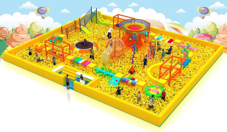 室內儿童遊樂園淘氣堡設備 5