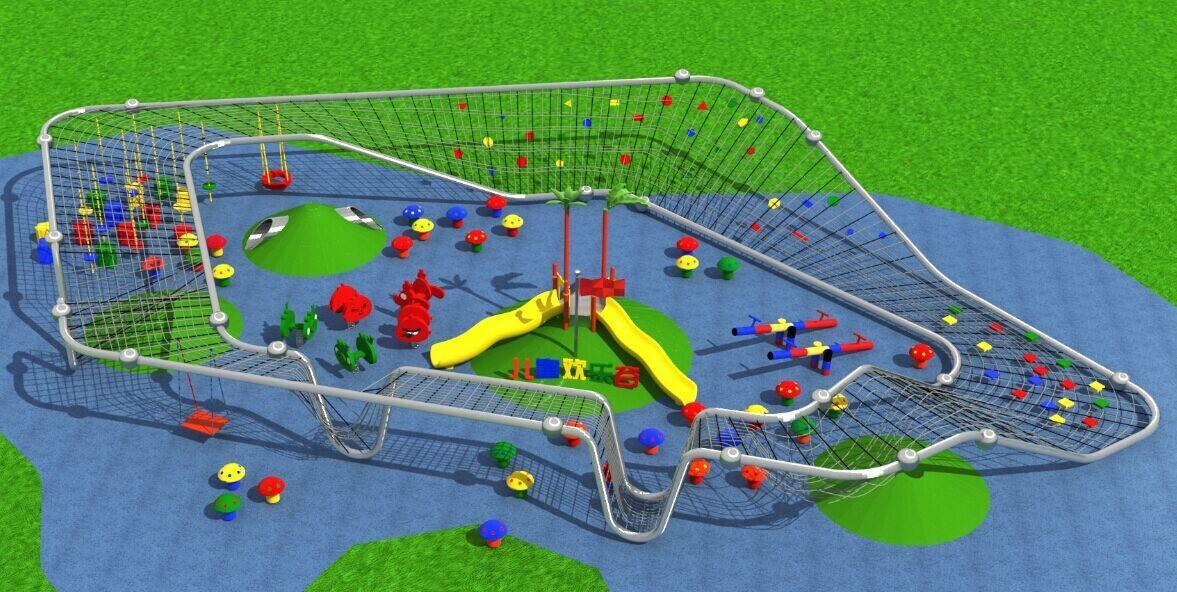 儿童攀爬異形網設備 5