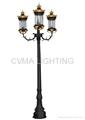 outdoor garden pole lamp