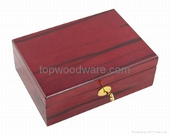 Rosewood high gloss finish wooden jewelry gift box