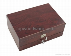matt finish wooden jewelry gift box