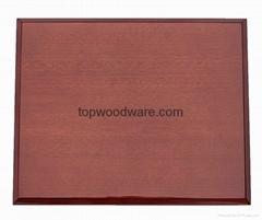 rosewood piano finish awards plaque