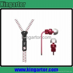 zipper earphone ,for iphone5 earphone,earphones and headphone